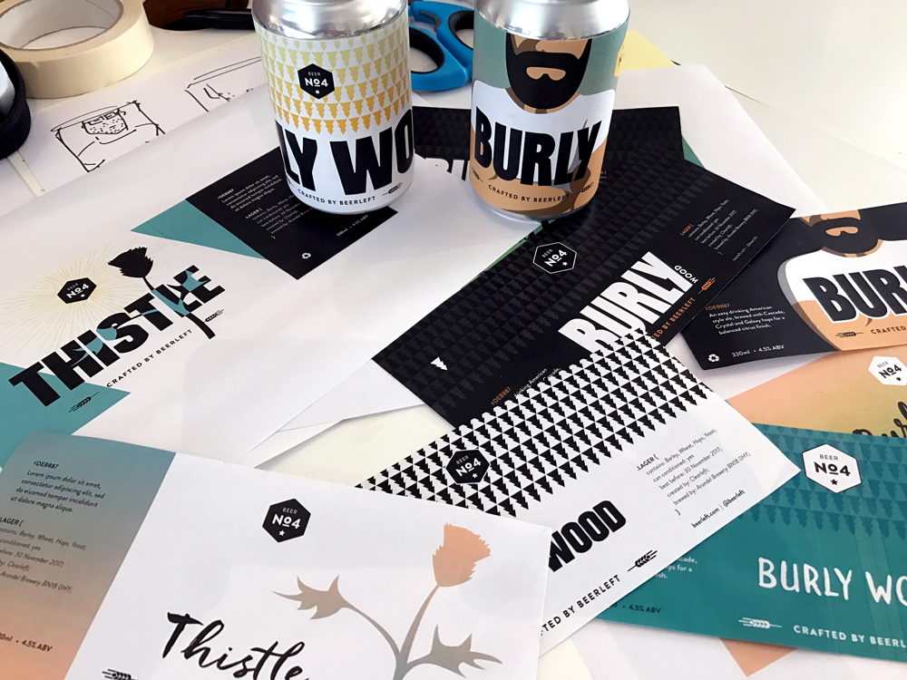 Exploratory work for the latest Beerleft craft brew VIEW CASE STUDY >