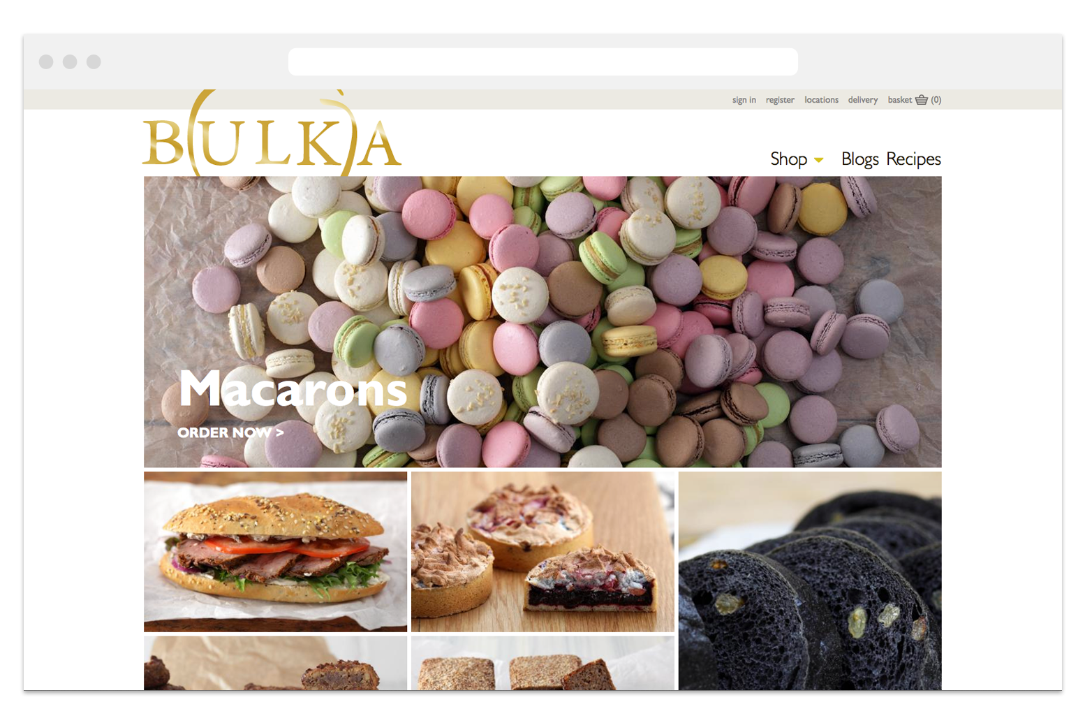 Bulka's first eCommerce website VIEW CASE STUDY >