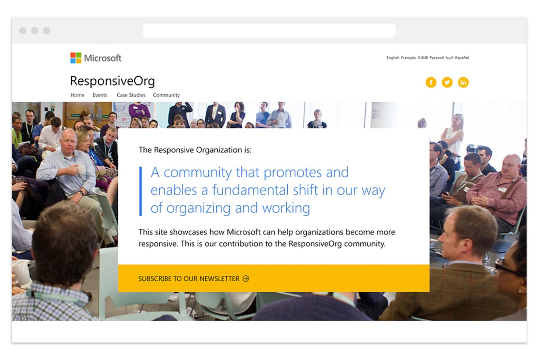 Helping Microsoft showcase ResponsiveOrg