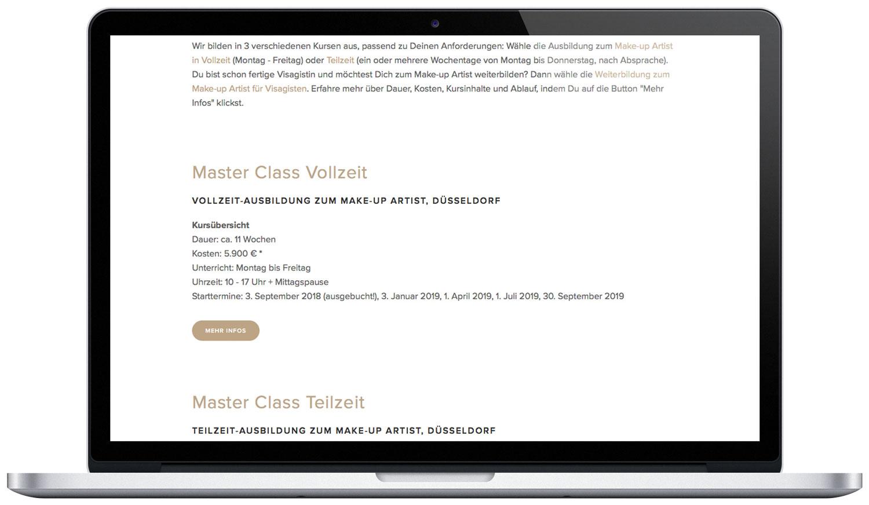 Ansicht Master Class Vollzeit
