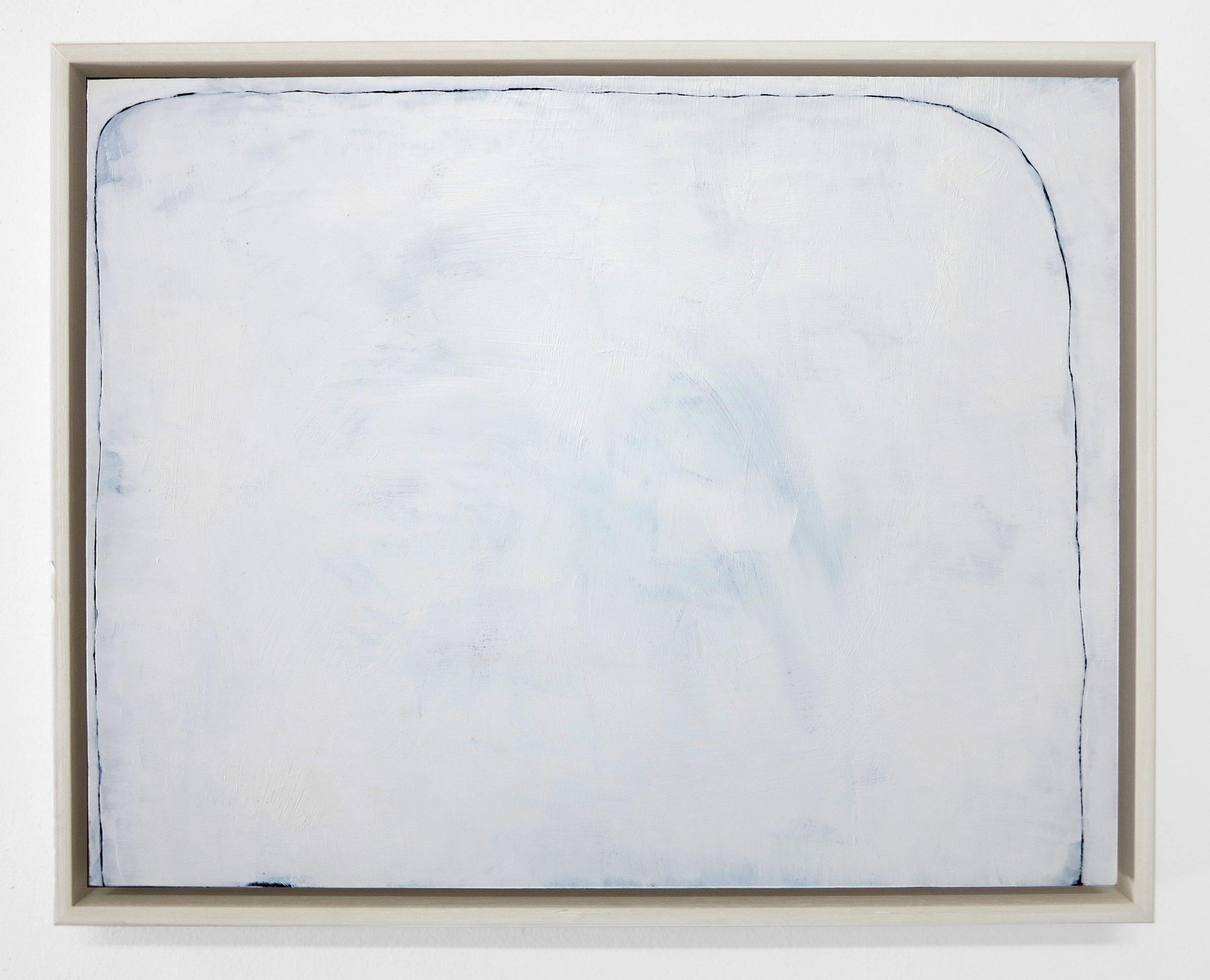 Line Drawing I, 2017, acrylic on board framed, 38.5 x 30.5cm