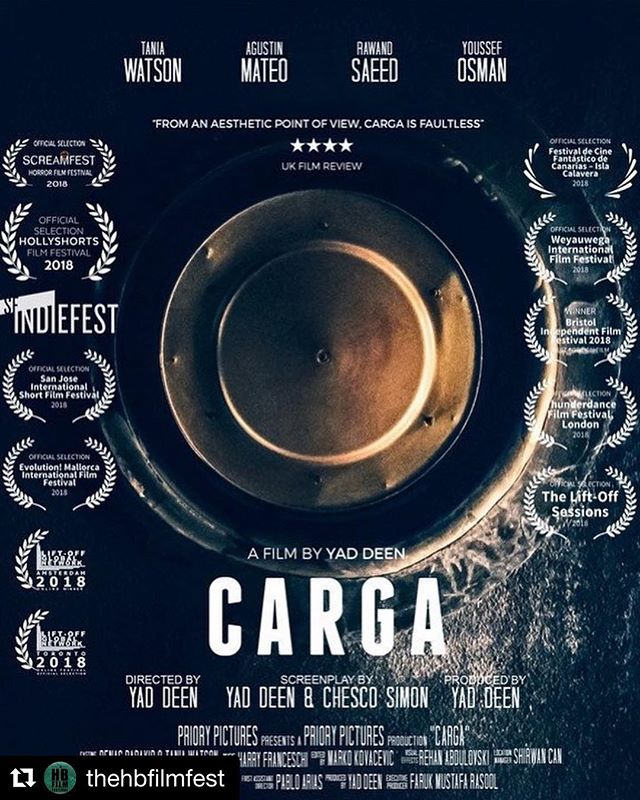#Repost @thehbfilmfest ・・・ Thank you #writer & #director @yaddeen for submitting #shortfilm @cargafilm to @TheHBFilmFest  Starring  @taniamwatson  @agu_m  Check out the #filmposter  #SupportIndieFilm #film #filmmakers #filmmaking