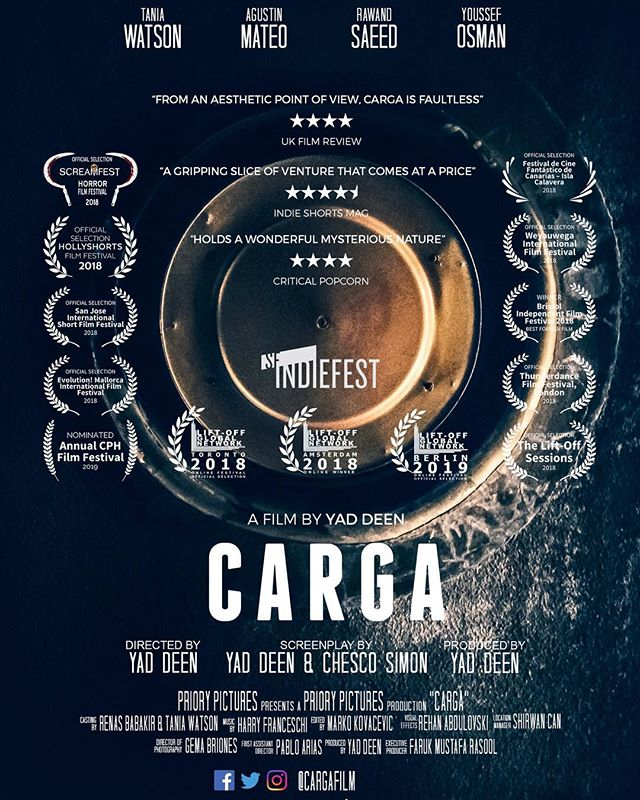 Carga has had a successful run so far and we're glad to say that it doesn't stop here! Thanks so much to the festivals that have nominated and awarded us - and hello to the festivals around the corner :) #SupportIndieFilm #ukfilm #shortfilm #filmfestival #filmreview #cine #filmmaking #cineespañol #cargafilm #officialselection