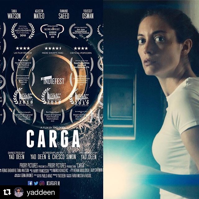 👏🍾🥂👏 #Repost @yaddeen ・・・ @cargafilm dominates tonight's festival, taking home FIVE awards!  Best Actress (@taniamwatson), Best Director (@yaddeen), Best Middle Eastern Short Film, Best Short Film and Best Of The Fest.  #cineespañol #thrillermovie #ukfilm #cortometraje #horrormovies #cargafilm #crypttv #shortstv #supportindiefilm #independentfilm #iraq #kurdistan #slemani #spain #filmfestival #shortfilm #filmreview #creepypasta #horrornews #horrorhound #moviemaker #filmmaker #filmmakerslife #keepfilmalive #filmcommunity #filmmaking #citycinema