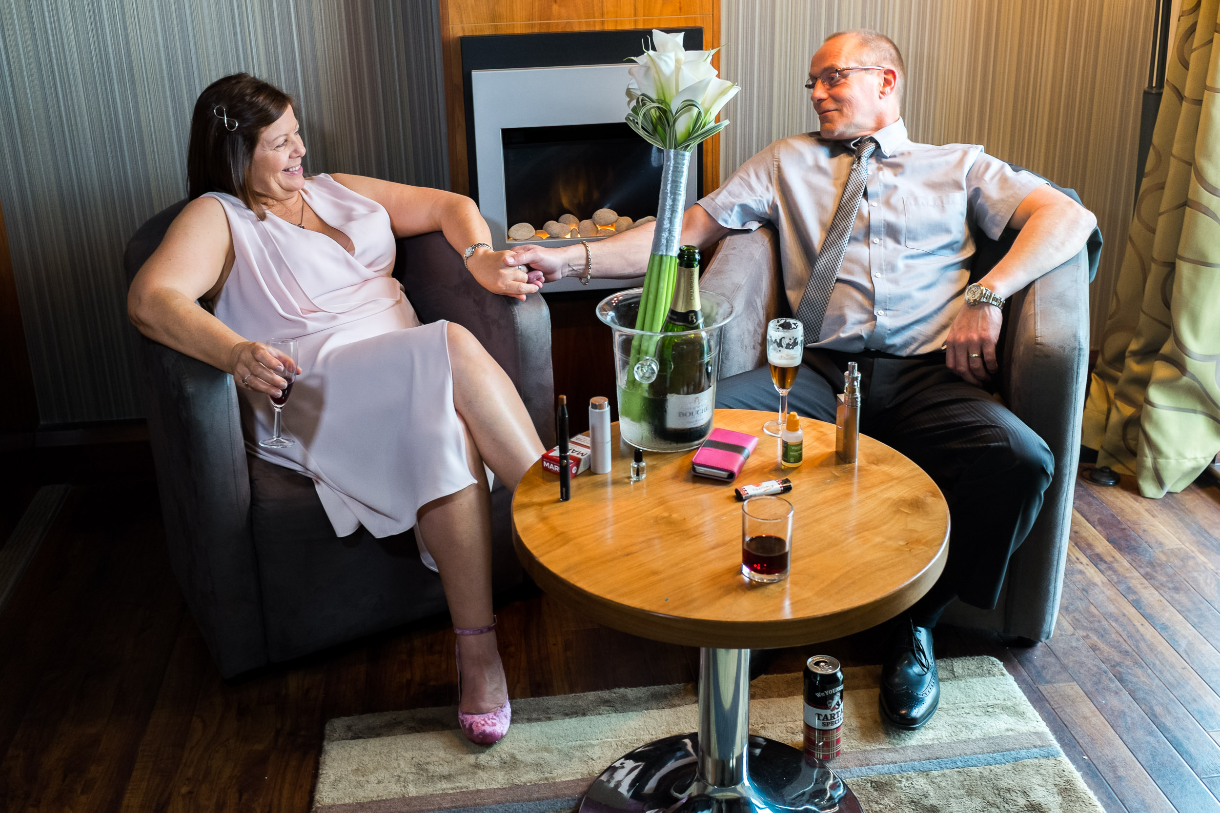Gretna Green project - Susan and Phil Duncan after wedding back at Smith's Hotel