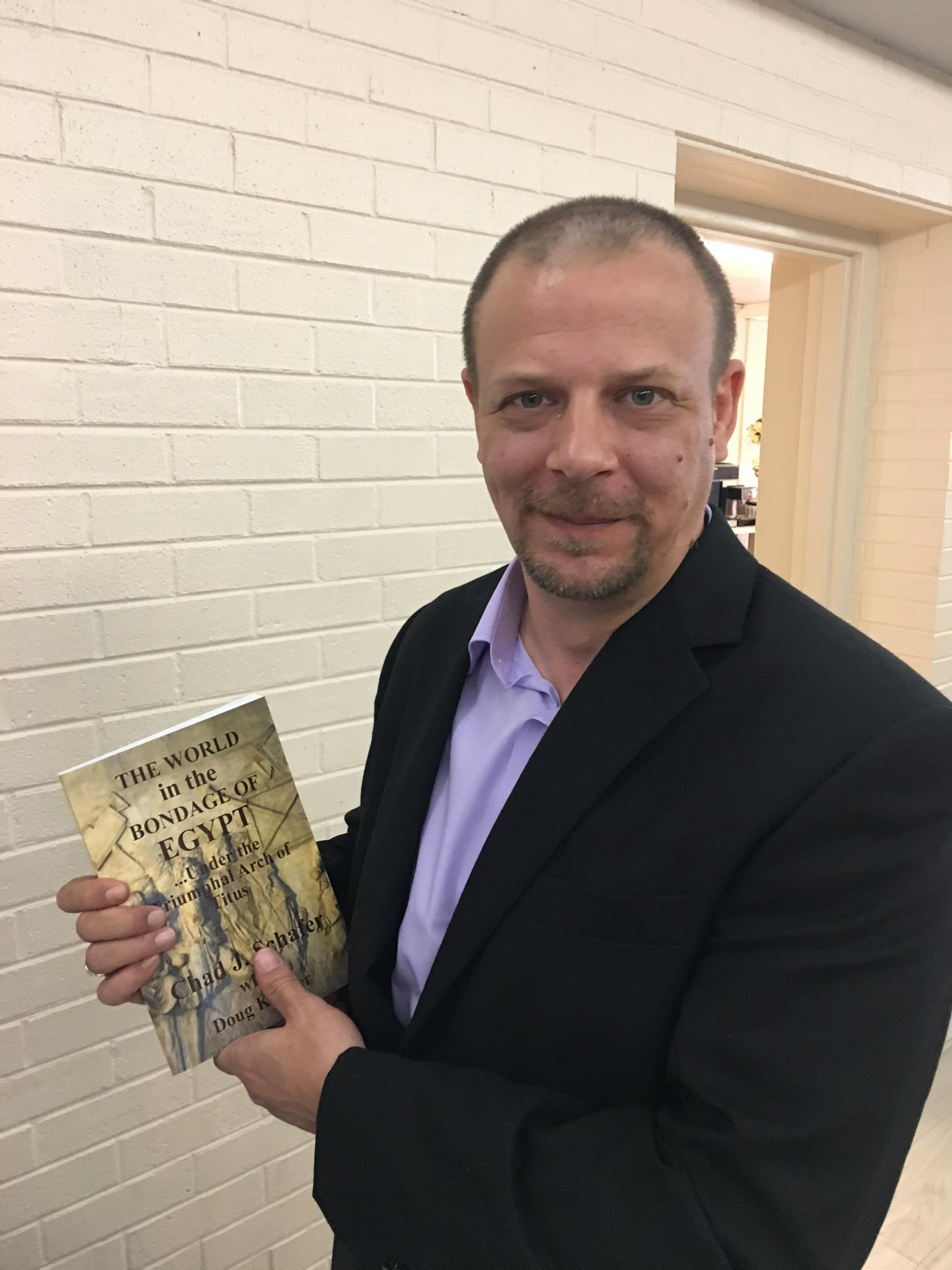 Chad with Book
