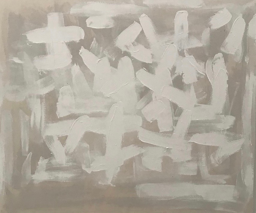 Untitled Abstract White Series 9.
