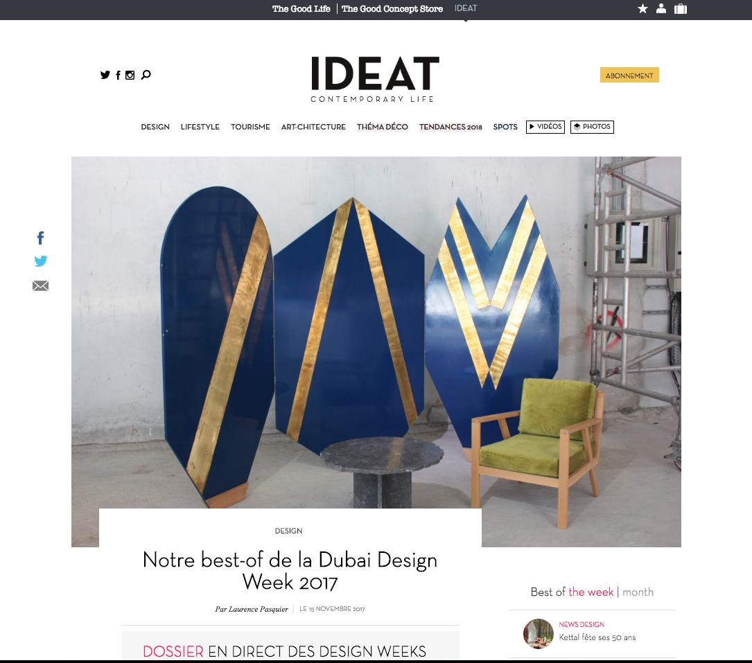 IDEAT - DUBAÏ DESIGN WEEK