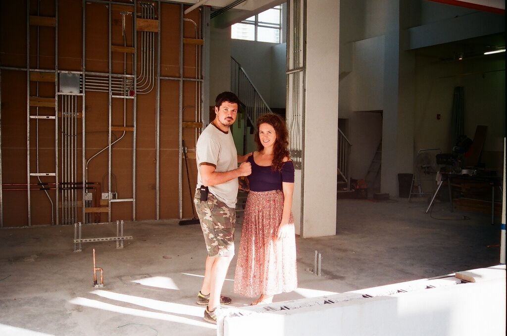 two founders during buildout