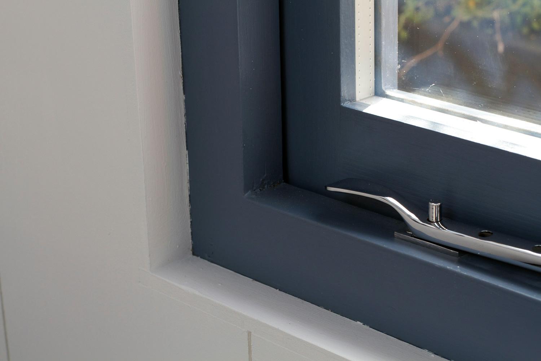 Blue window detail