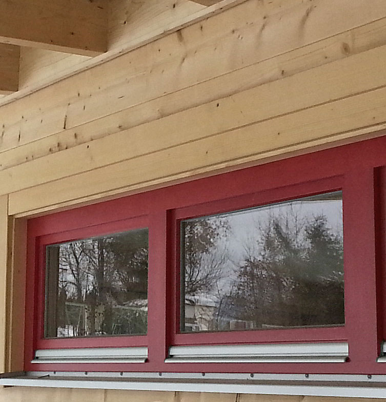 Red window detail