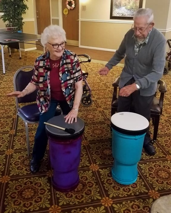 - Bickford Senior Living, Rockford ILDrummin' and Dancin' with Wise Ones2018 Drumming for Wellness group.