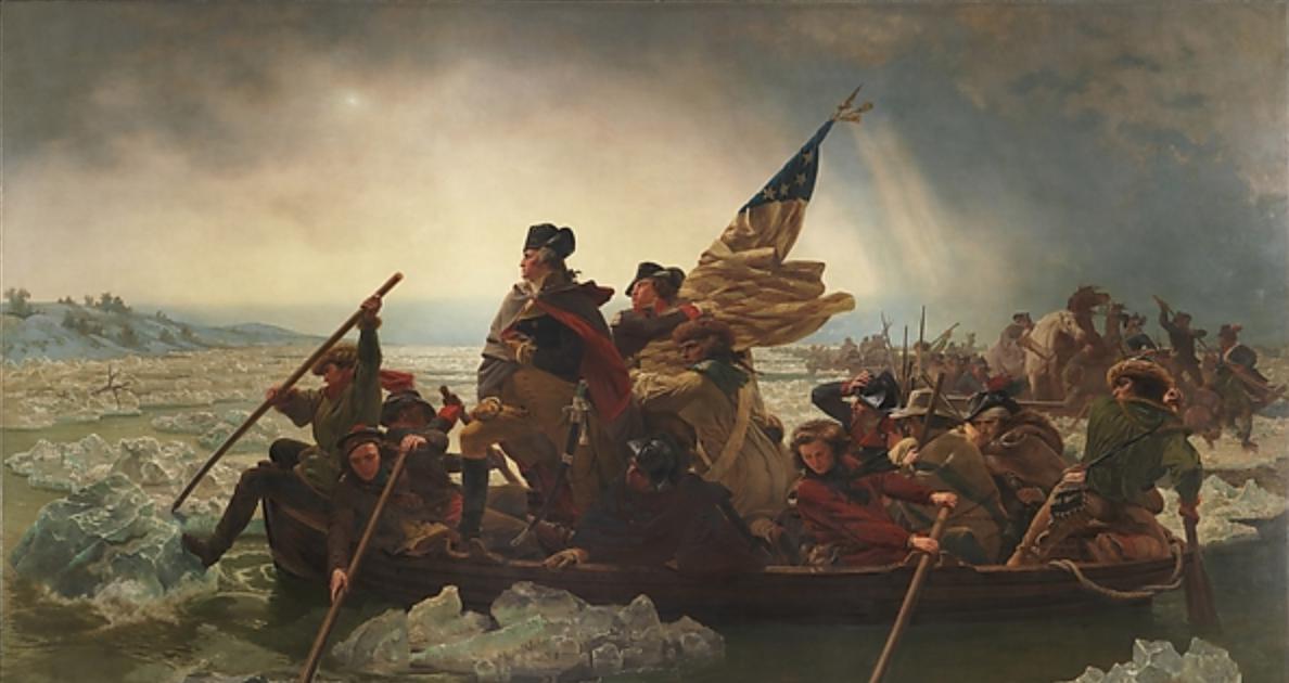 Washington Crossing the Delaware  (1851), Artist: Emanuel Leutze