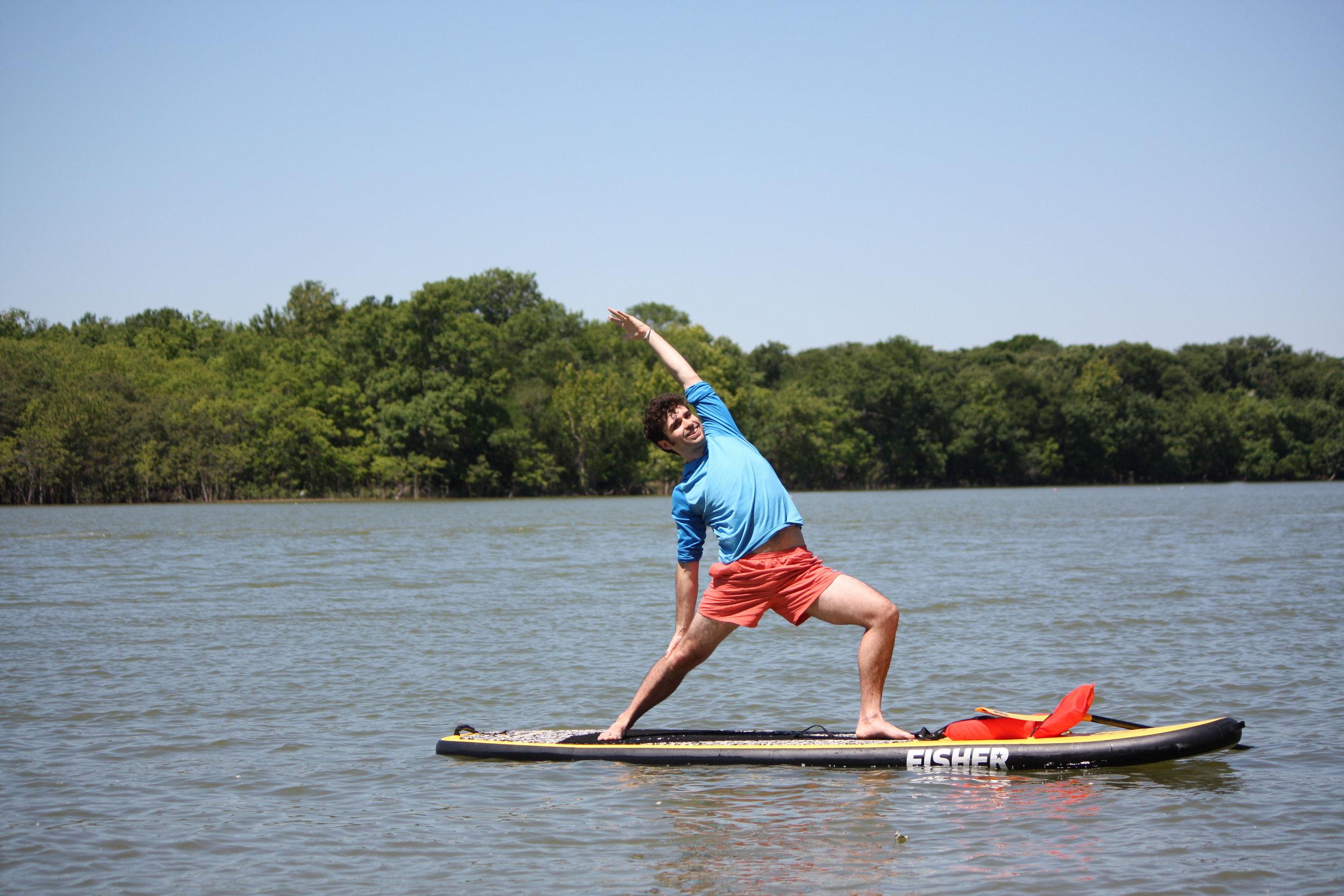 Dan Hall Paddle board Yoga