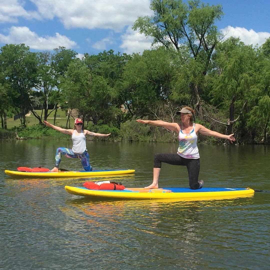 beginner paddle yoga in fort worth