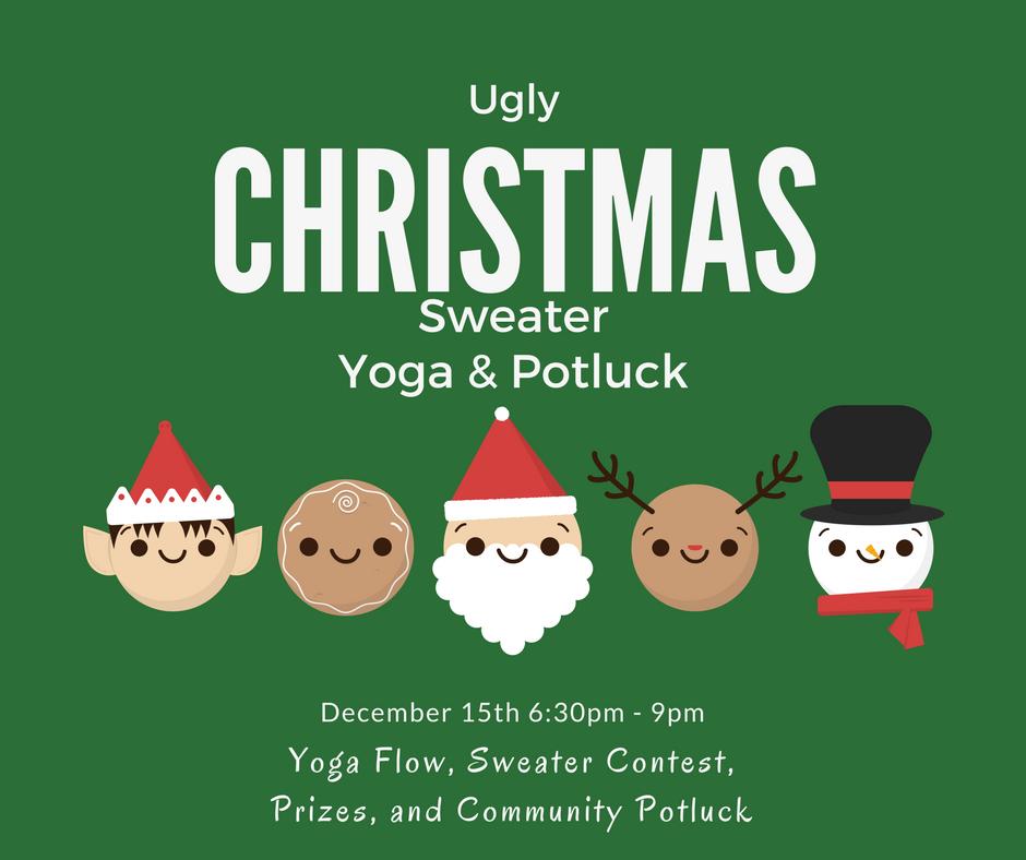 ugly christmas sweater yoga