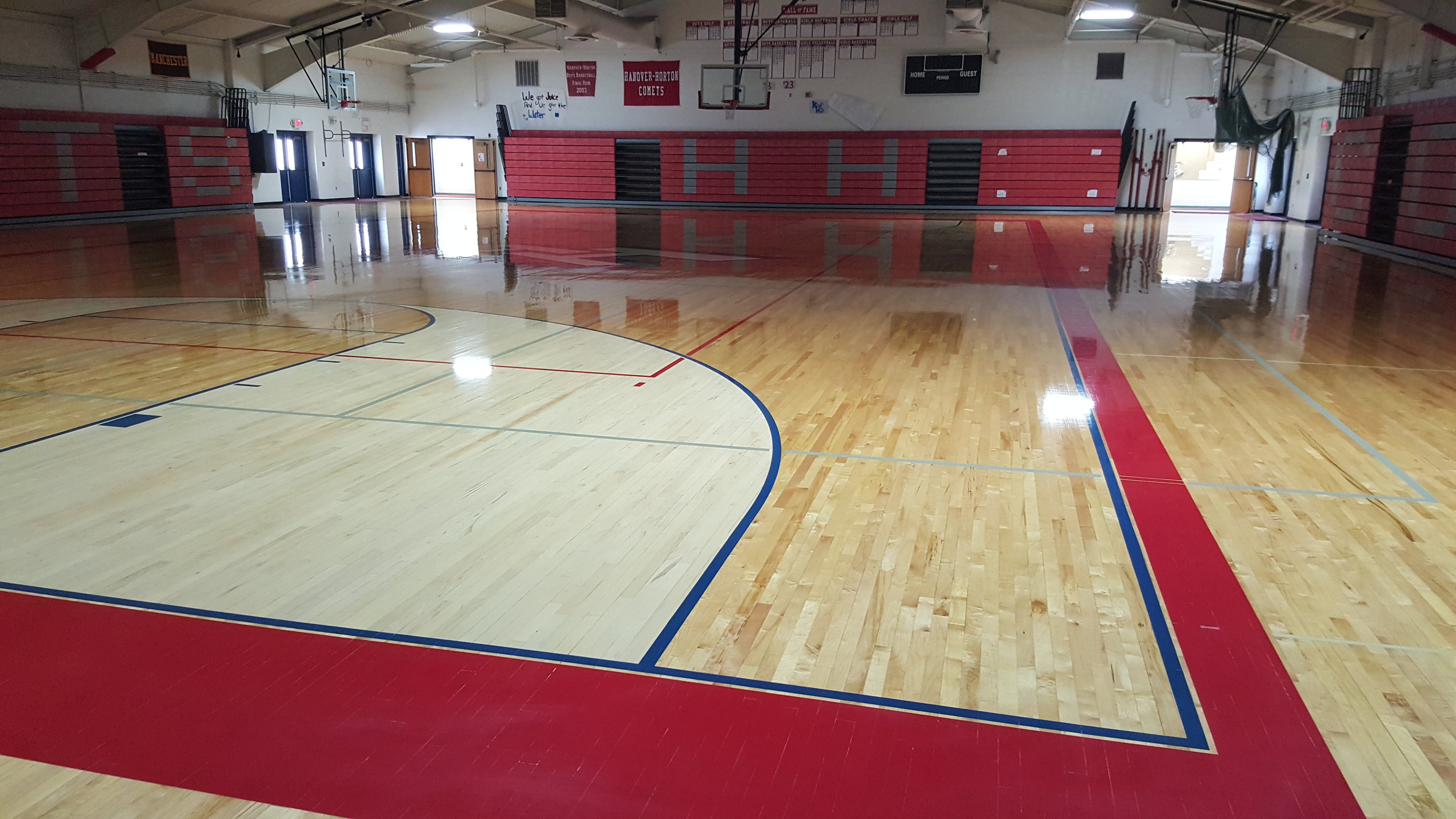 Hanover Horton High School After Restoring with Burnisher