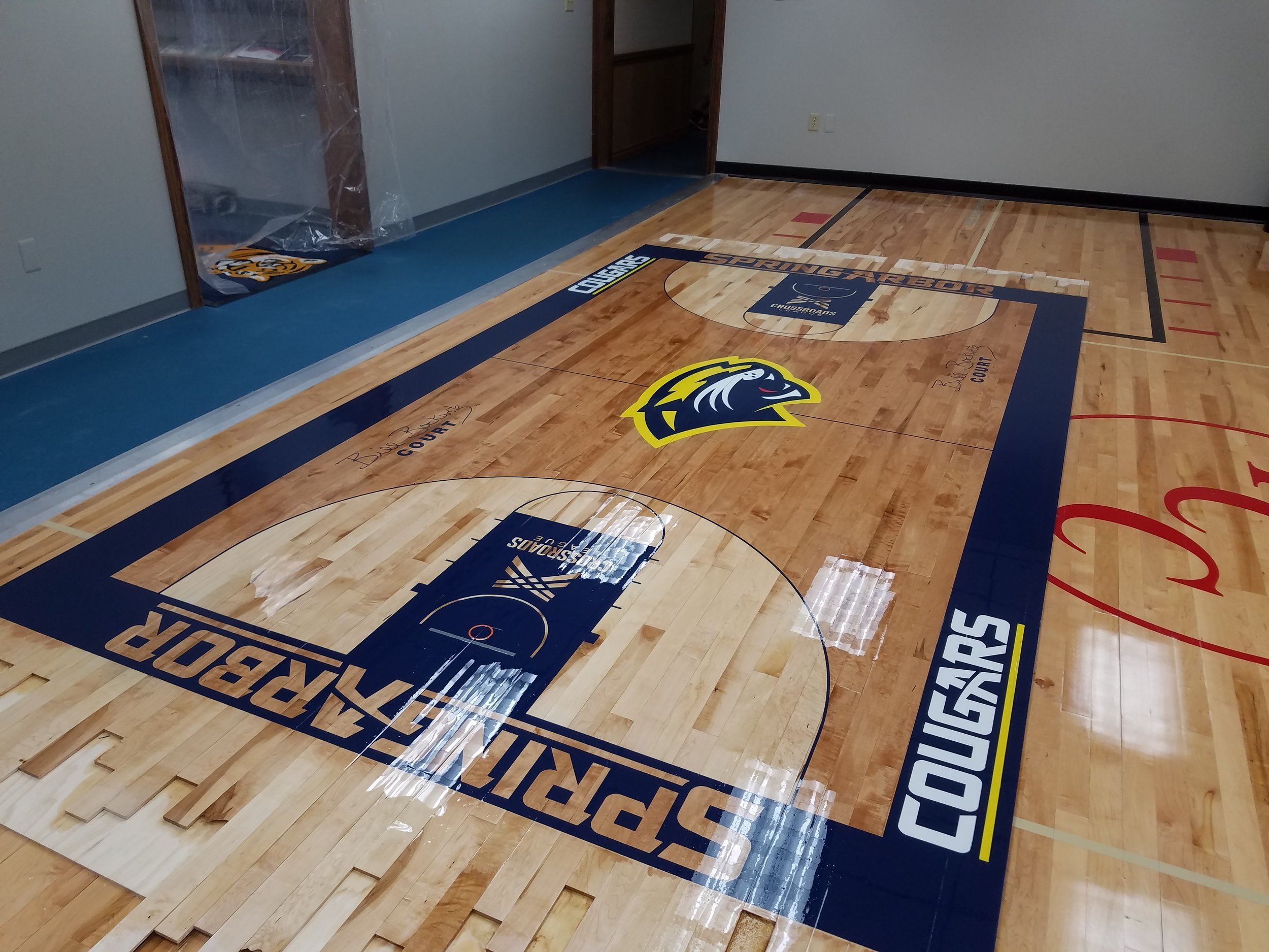 Press Box Floor - In process at Floor Care Concepts