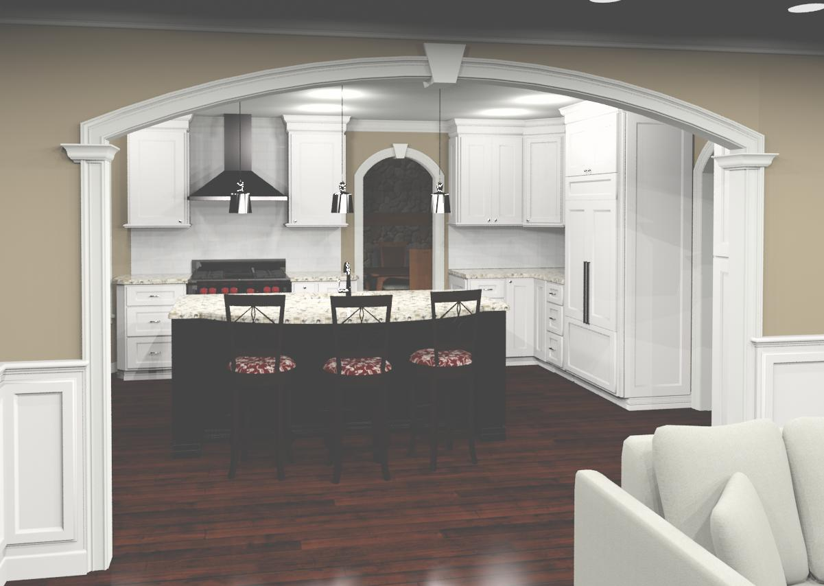 3D CAD of proposed renovation
