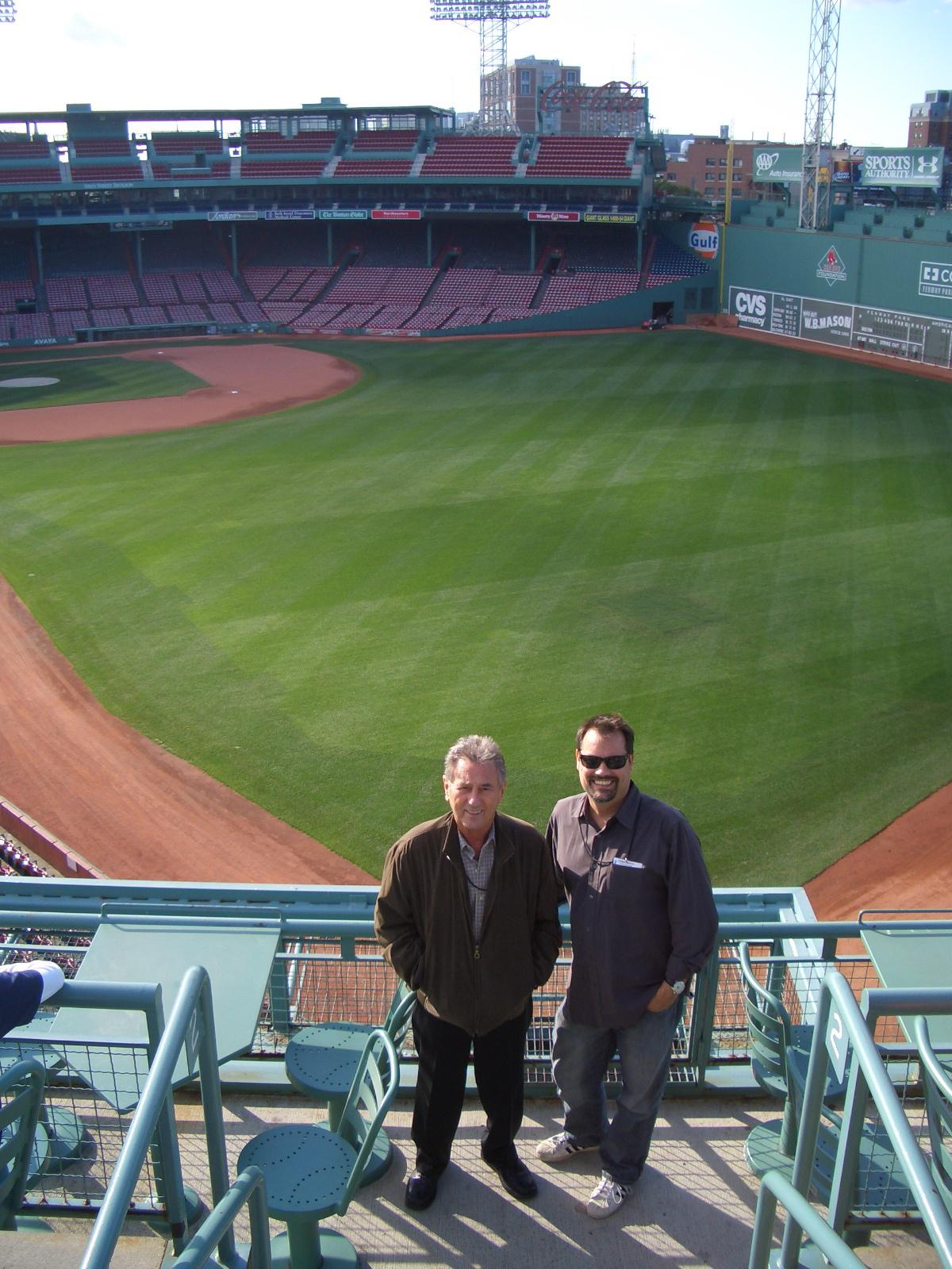 Al Schmitt & Steve Fenway Park 2008