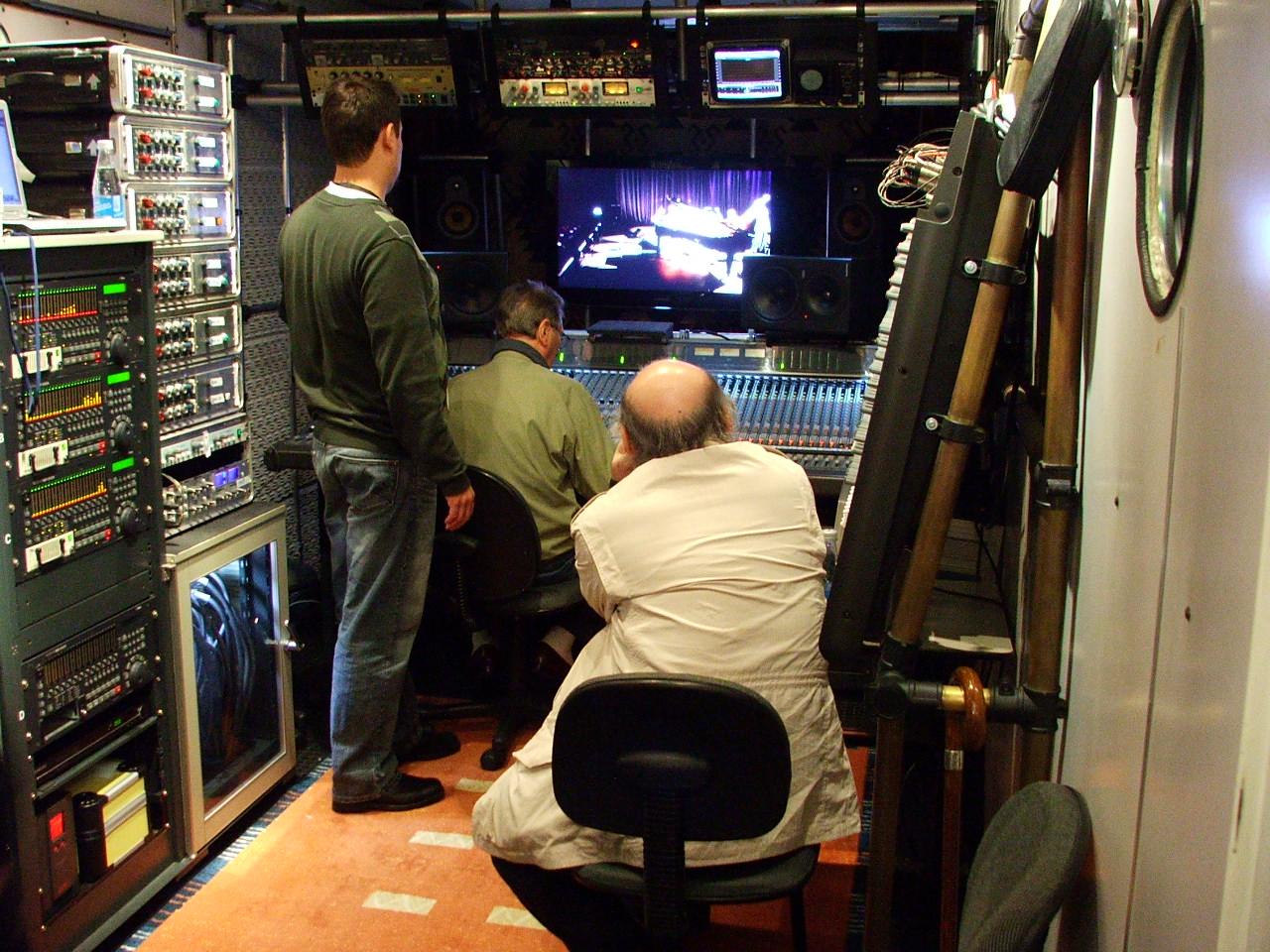 Steve, Al Schmitt, Tommy LiPuma Rio 2008