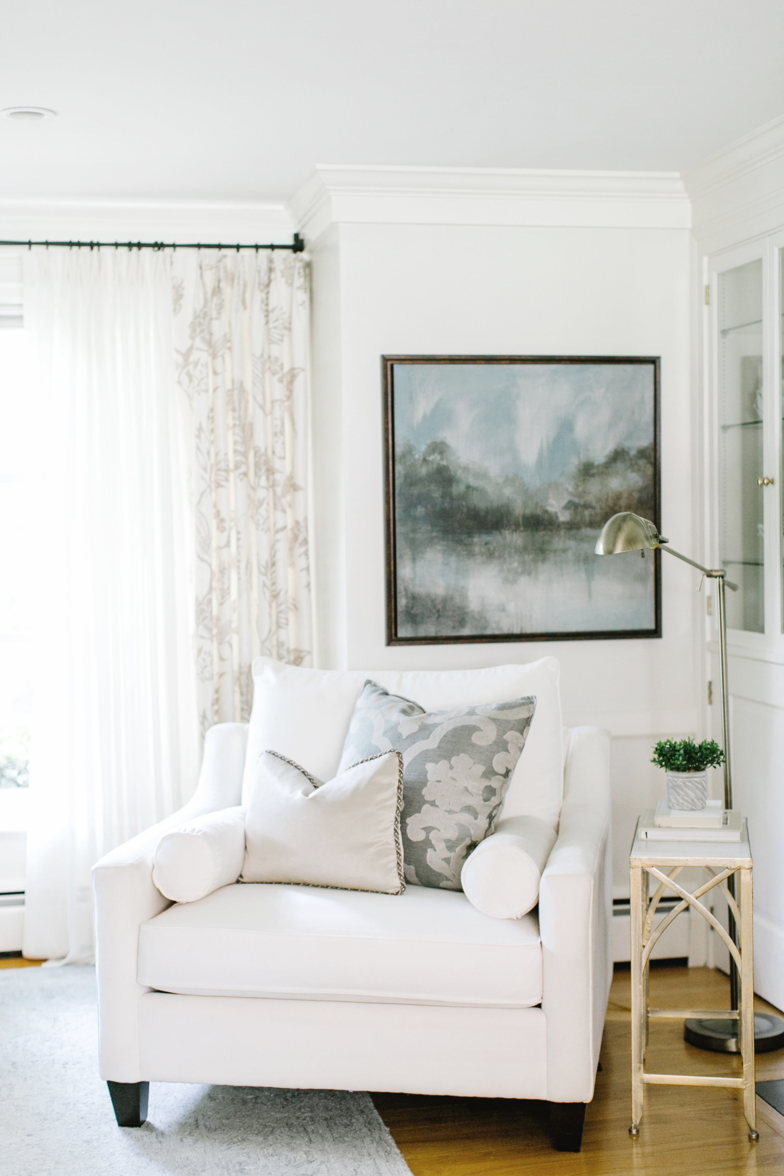 Luxurious fabrics bring style to a living room