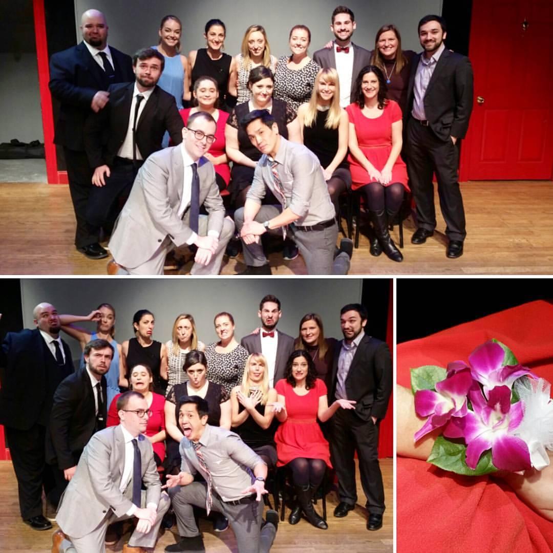 Level 3 grad show: Wedding attire and a corsage!