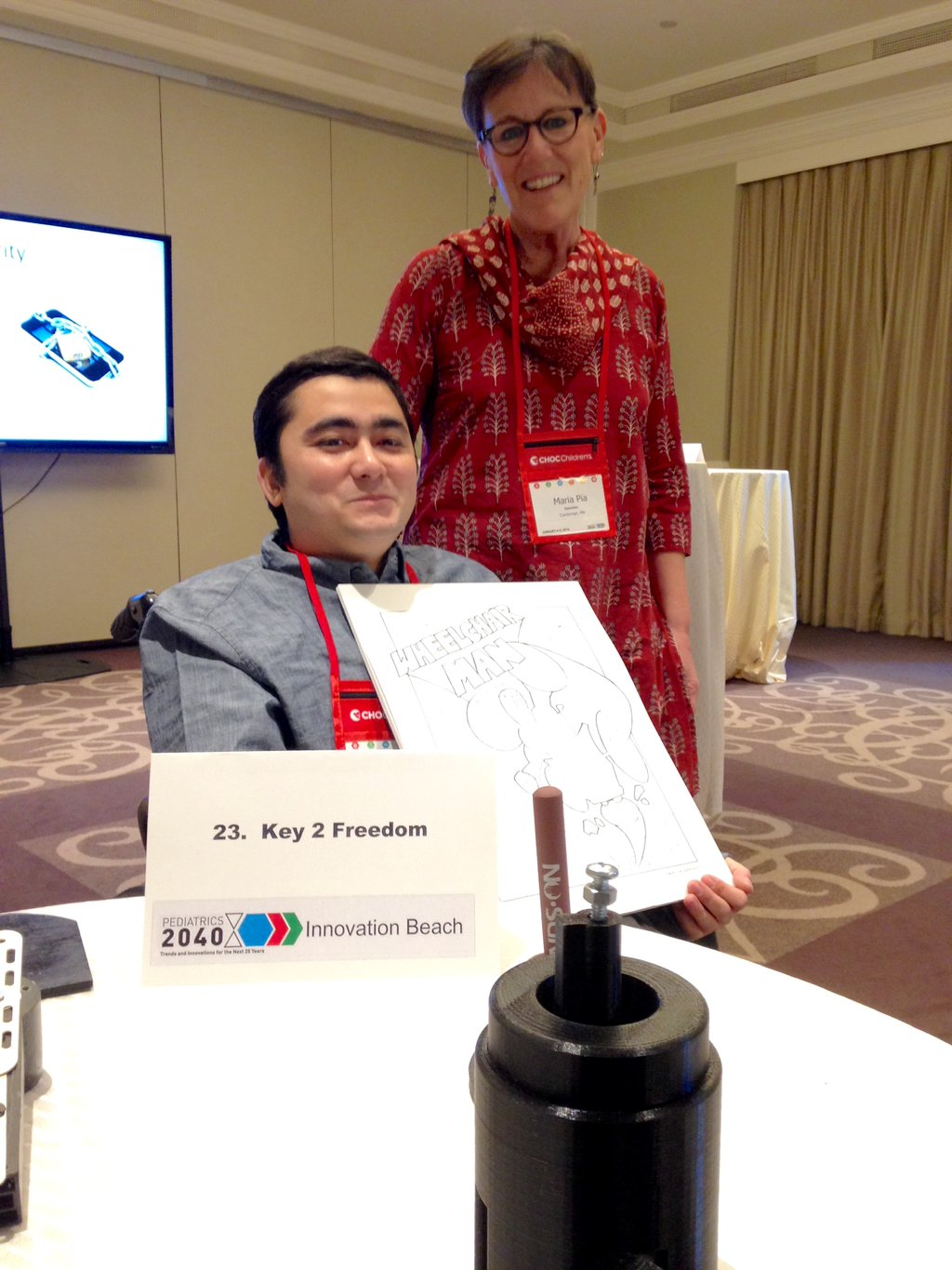 Mohammad Sayed presents his Universal Arm at Peds2040.