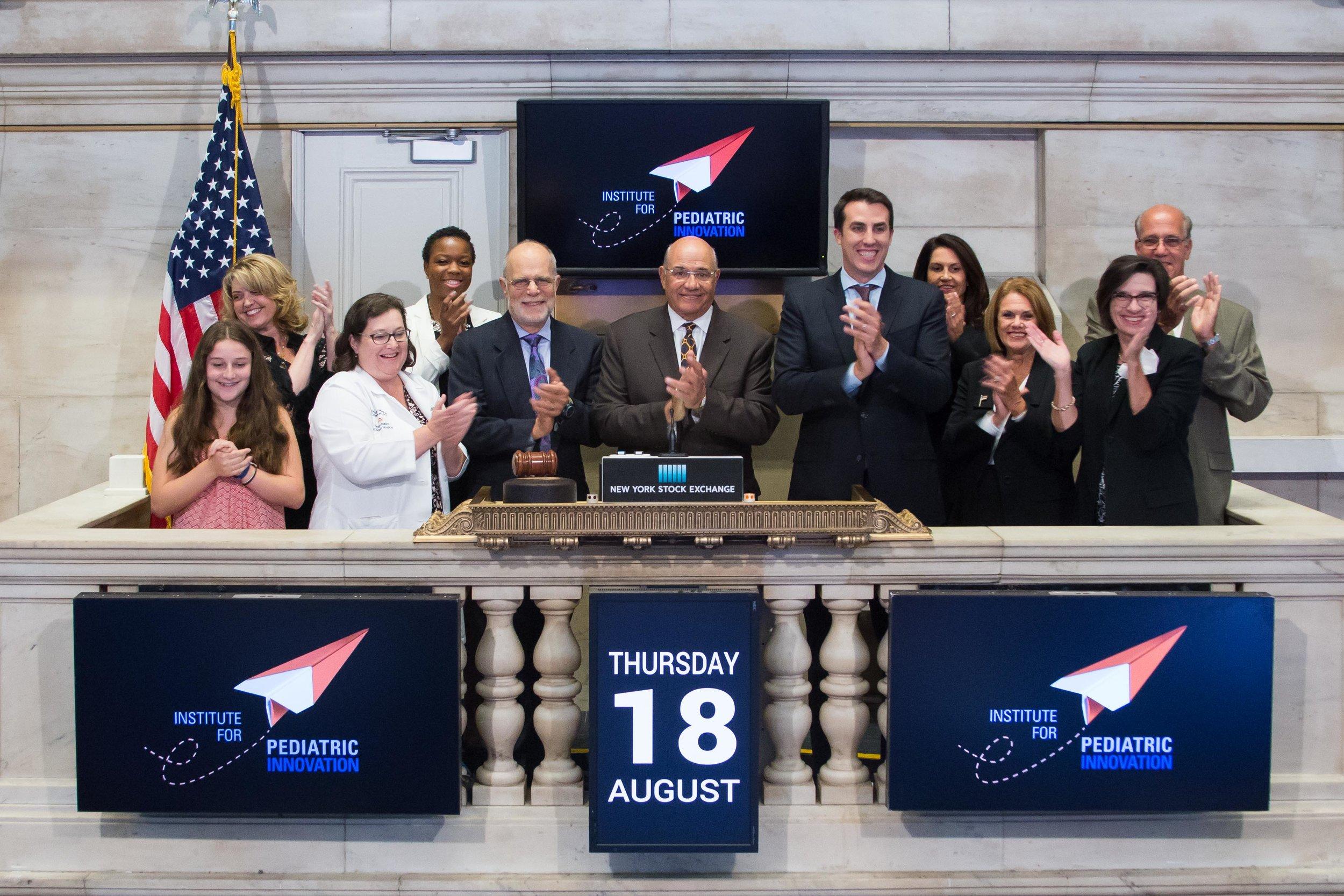 IPI Bell Ringers! Photo Credit: NYSE