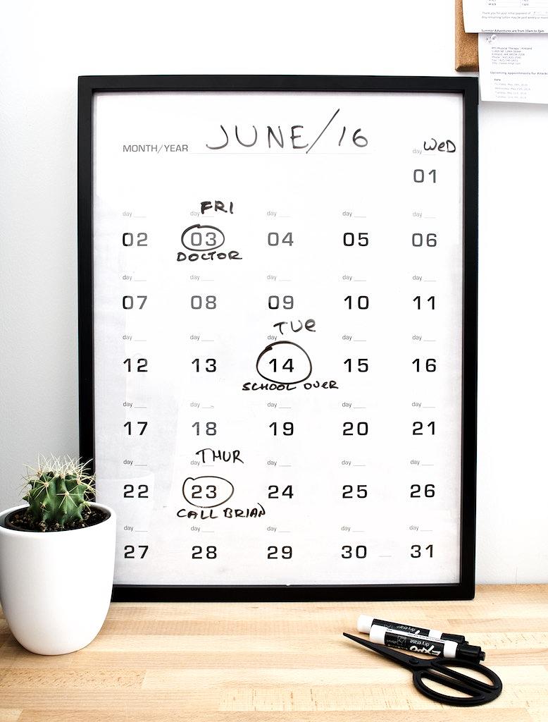 write-on calendar