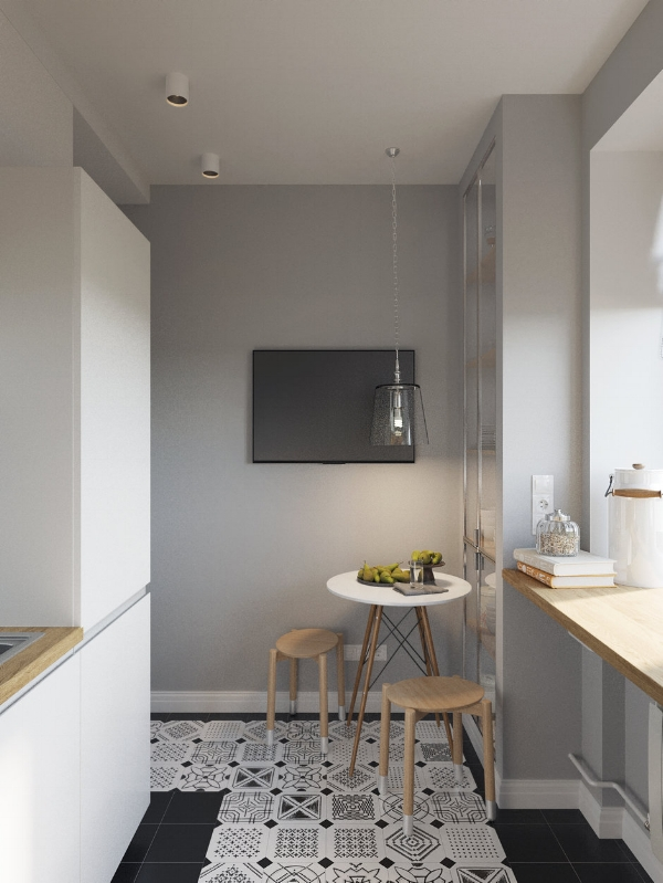 Tiny modern kitchen