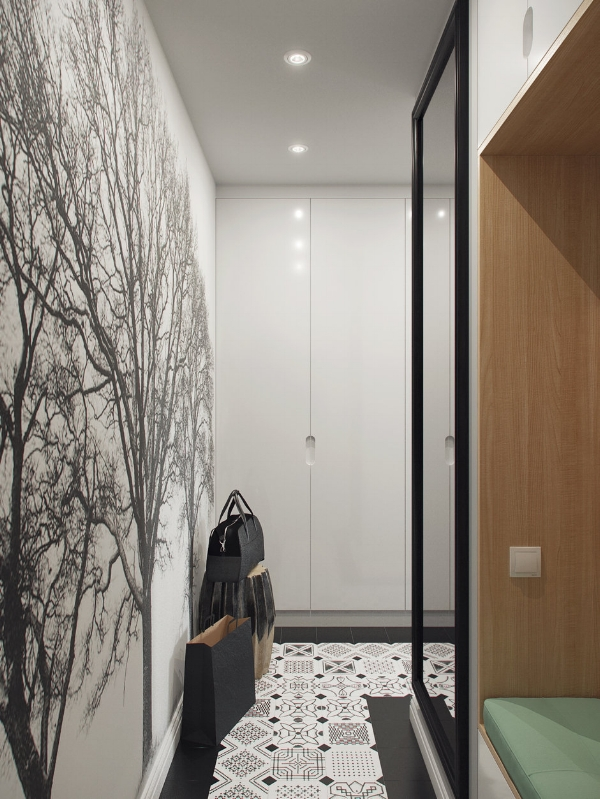 Small hallway - big wall paper impact