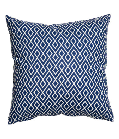 Blue patterned pillow cover $5.99  H&M