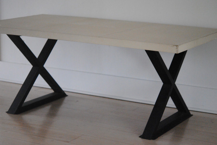 Leather top table/desk