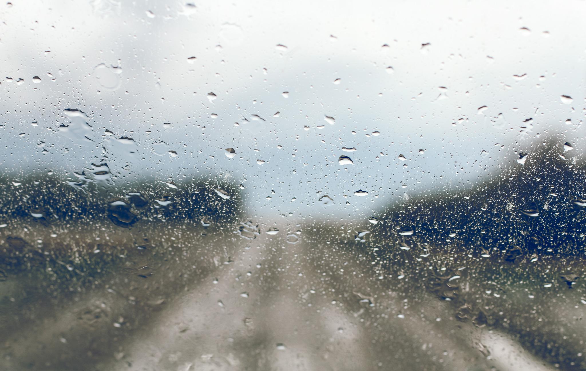 Backroads & rain drops