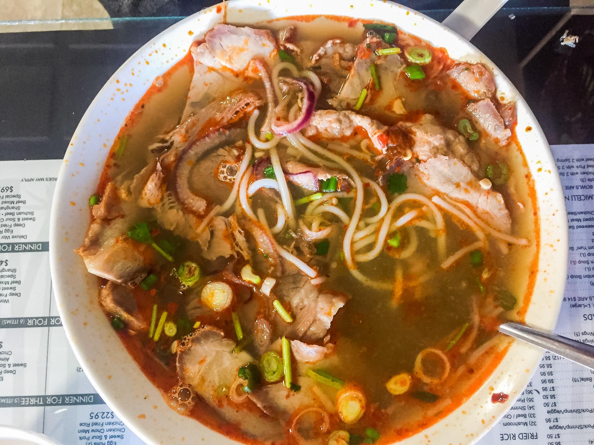 Bun Bo Hue - Spicy beef & pork. So goood