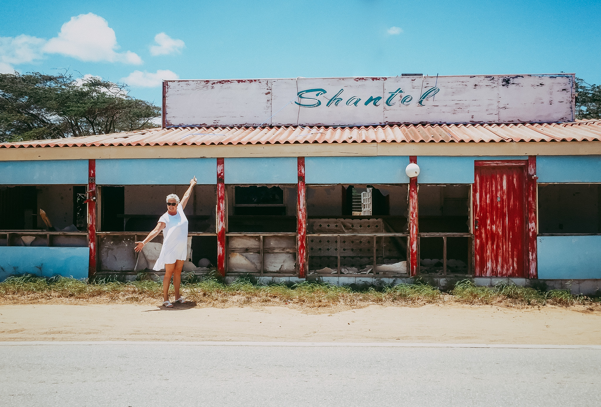 She was so impressed to find her name spelt right - Somewhere in Aruba