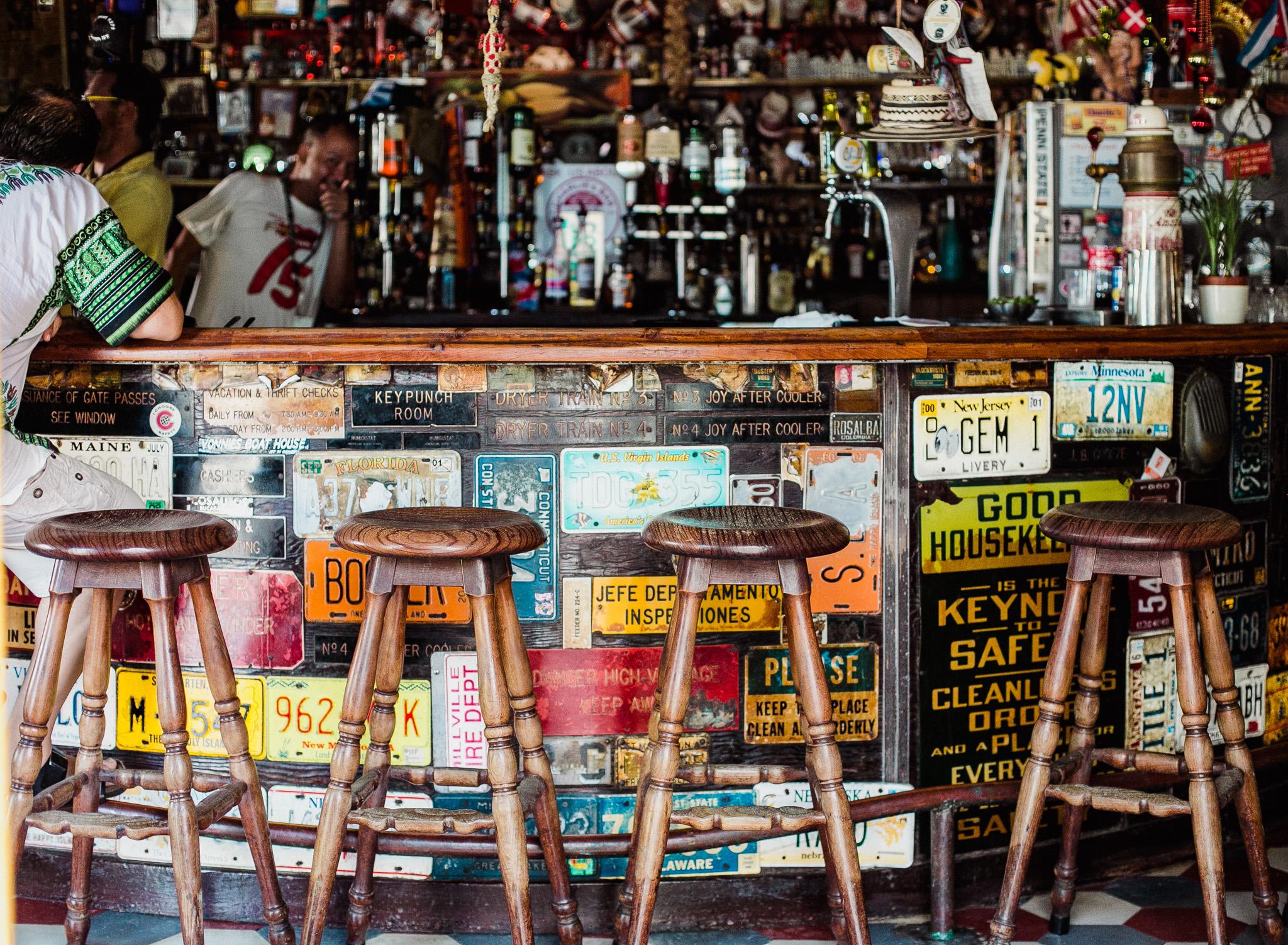 Charlies Bar San Nicolas - Aruba   Our waiter gives us a quick wink and a,  see ya later