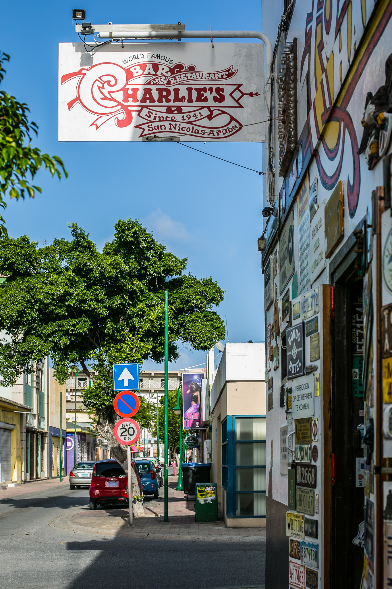 Charlies Bar in San Nicolas Aruba   It's a fun place to be if you get a chance to check it out. In a seedy area so maybe earlier in the day is best, depending on what your into...