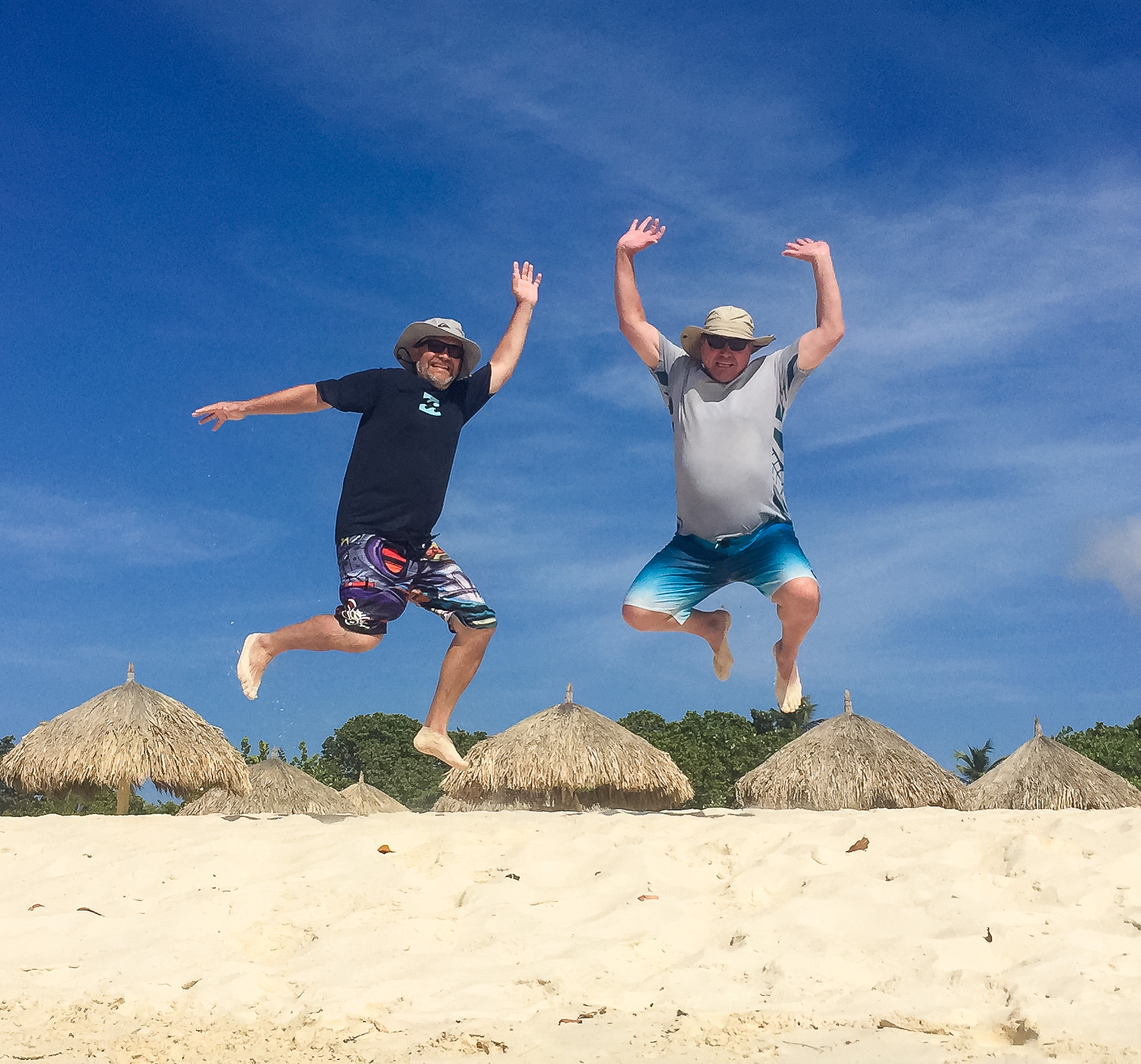 No sun tan for these two white boys