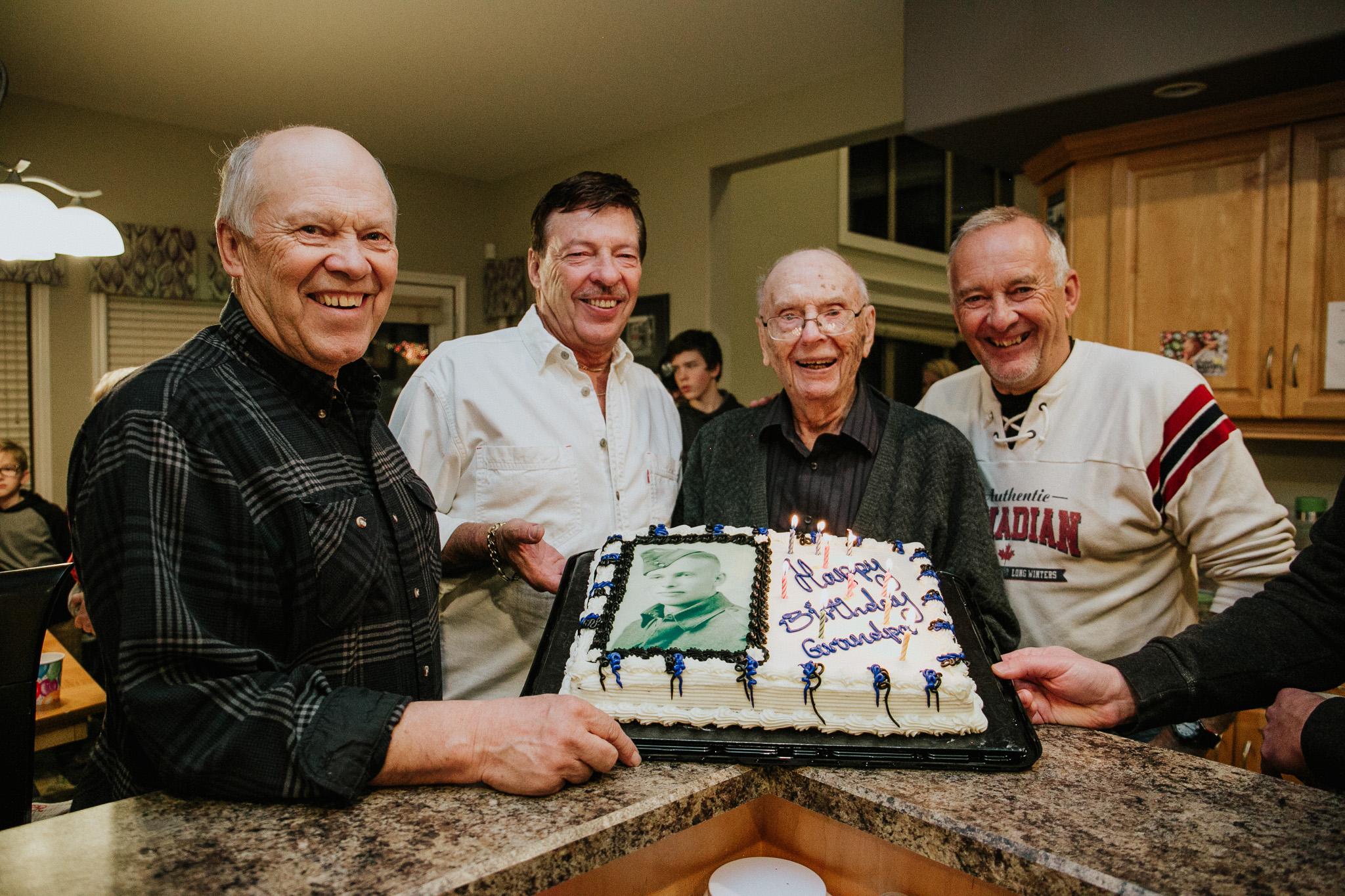 Grandpa Russ and his 3 boys
