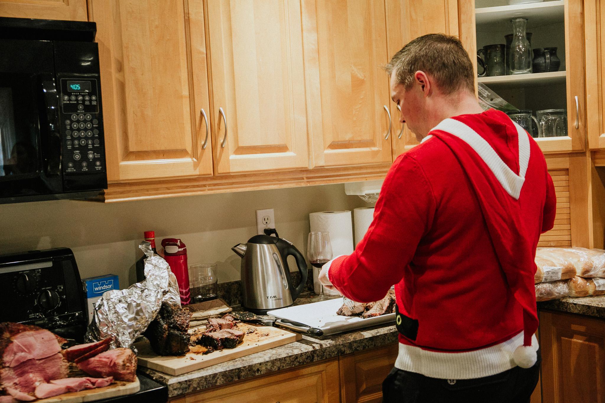 BIL -AKA-  BBQ Master - AKA - Brian   Preparing the feast