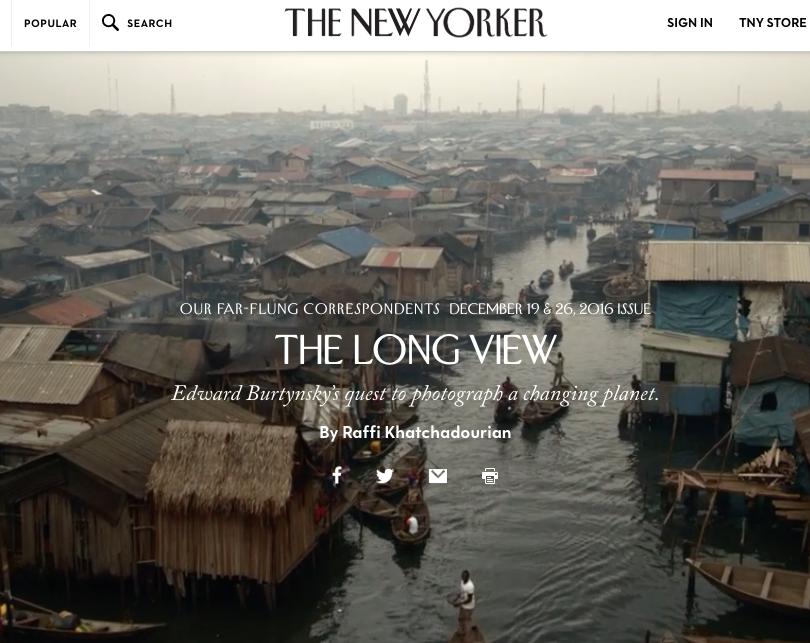 The New Yorker, December 19 &26, 2016