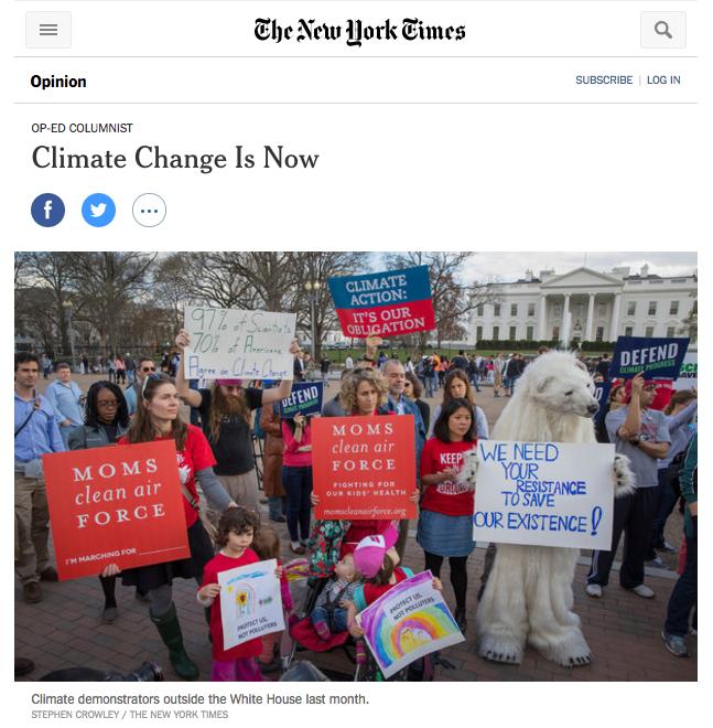 New York Times, April 21st, 2017