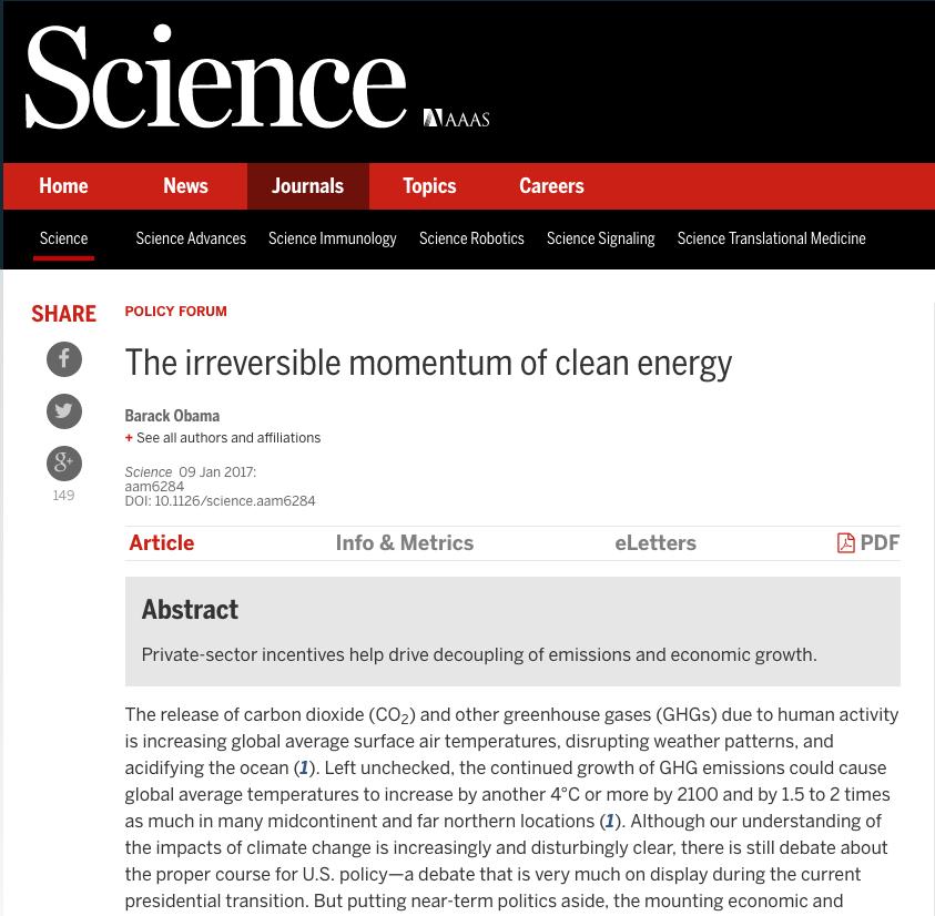 Science, January 9th, 2017