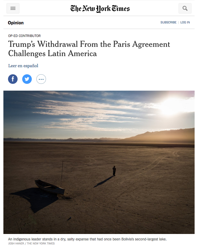 The New York Times, June 23rd, 2017