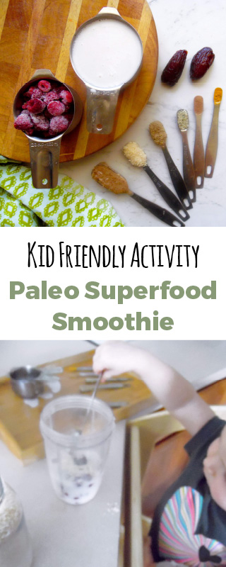 This snack will also entertain your kids. Let them measure out all the superfood ingredients. #paleo #snacktime