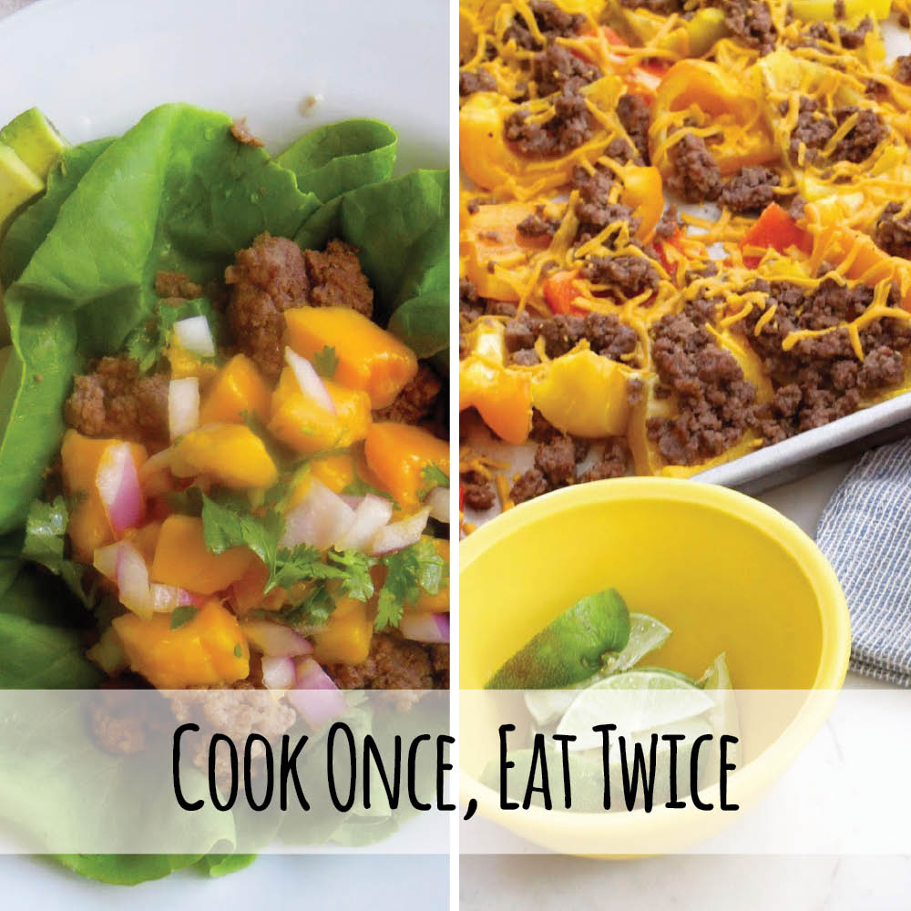 Cook one time and eat two times! Yes please, these easy dinner recipes save my week night. #whole30 #paleo #keto