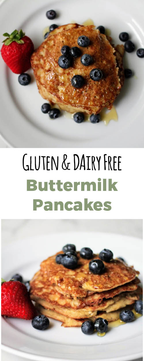 Yummy pancakes that are gluten free and dairy free. They are packed full of protein and nutrients.