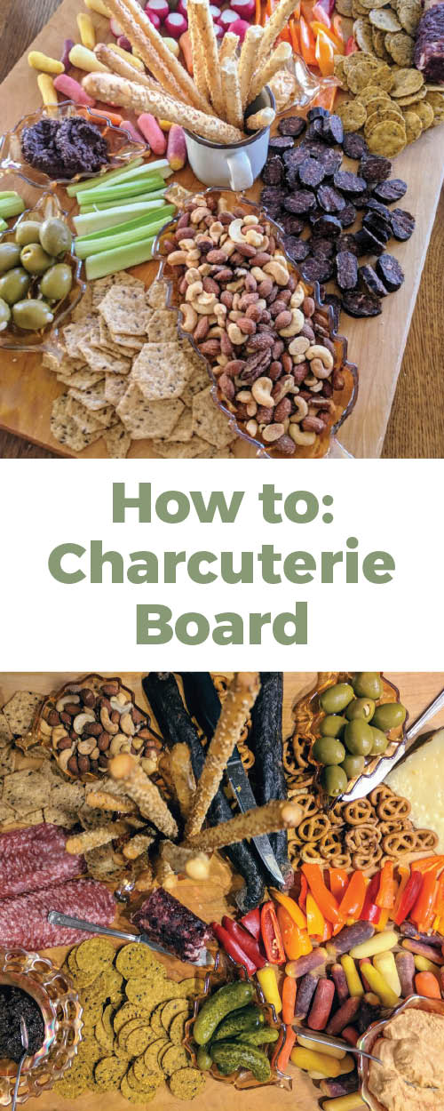 All the details on how to put the perfect charcuterie board or snack tray together for a crowd. Everything from ideas to how to portion everything! How to make the perfect charcuterie tray.